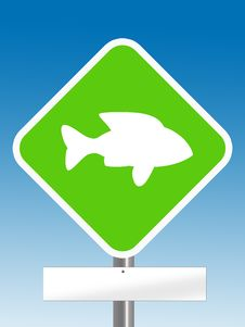 Free Fish Sign Royalty Free Stock Image - 6617386