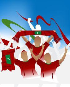 Free Maldives Crowd Stock Photography - 6617462