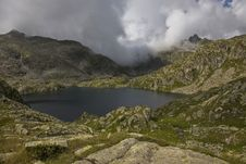 Free Mountains With Lake And Clouds Stock Image - 6617671