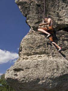 Free Man Climbing Royalty Free Stock Images - 6617859