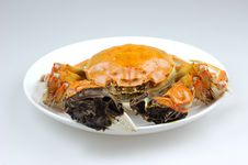 Free Crab In Plate Royalty Free Stock Photography - 6617977