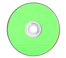Free Green Compact Disk Royalty Free Stock Images - 6618479