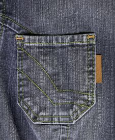 Grey Jean Pocket Stock Image