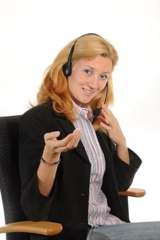 Free Working With Headset Royalty Free Stock Image - 6618806