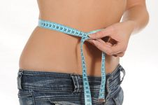 Free Waist Measuring Stock Photography - 6618812