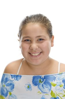 Free Smiling Beautiful Young Girl Royalty Free Stock Photo - 6618885