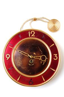 Free Old Broken Clock Royalty Free Stock Photos - 6619148
