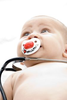 Free Cheerful Child With Stethoscope Royalty Free Stock Photography - 6619167