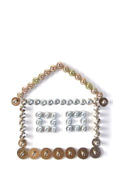 Free House Made From Screws Stock Photos - 6619203