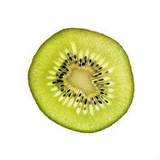 Free Slice Of Kiwi Isolated On White Royalty Free Stock Image - 6619226