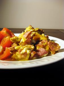 Dinner From Eggs Royalty Free Stock Image