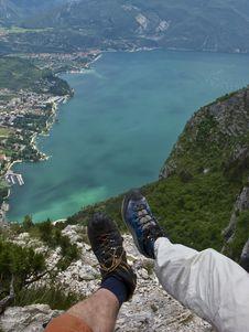 Free Trekking Above A Lake Stock Photo - 6619370