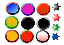 Free Colorful Buttons Stock Image - 6619411