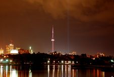 Free Toronto City Skyline (night) Royalty Free Stock Photography - 6619517