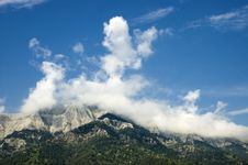 Free Mountain In Clouds Stock Images - 6619694
