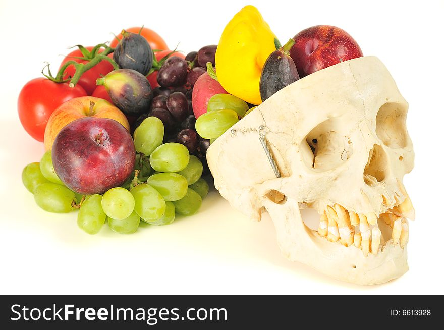 Human skull cornucopia