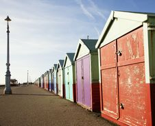 Wooden Beach Huts Royalty Free Stock Image