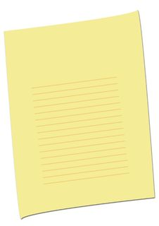 Free Simple Empty Yellow Page 2 Royalty Free Stock Images - 6620599