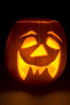 Free Lighted Halloween Pumpkin Stock Photos - 6620613