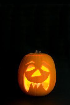 Free Lighted Halloween Pumpkin Royalty Free Stock Image - 6620706