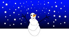 Free Xmas Snowman 2 Royalty Free Stock Images - 6620809