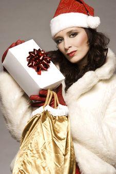 Free Santa Girl Royalty Free Stock Photos - 6621618