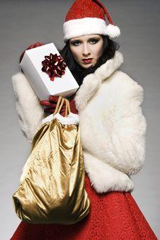 Free Santa Girl Stock Image - 6621621