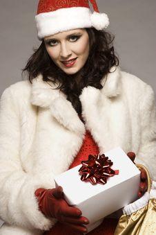 Free Santa Girl Royalty Free Stock Image - 6621626