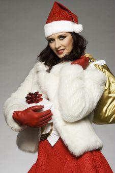 Free Santa Girl Royalty Free Stock Photography - 6621647
