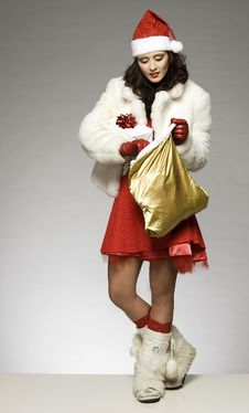 Free Santa Girl Stock Image - 6621651