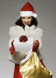 Free Santa Girl Royalty Free Stock Images - 6621669
