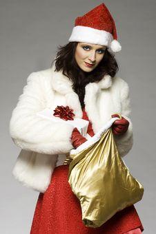 Free Santa Girl Stock Photo - 6621670