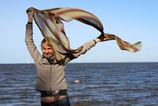 Free Blond Woman With Scarf. Royalty Free Stock Photo - 6621725