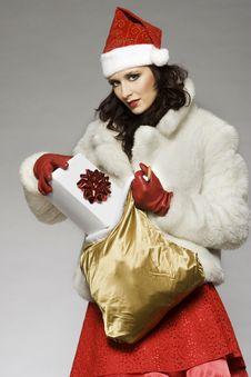Free Santa Girl Royalty Free Stock Photography - 6621757