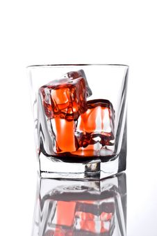 Free Glass With Bloody Ice Cubes Royalty Free Stock Images - 6621889