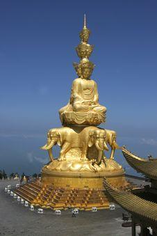 Puxian Buddha Statue Stock Image