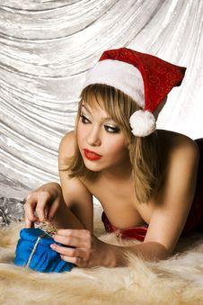 Free Blonde Santa Girl Stock Photo - 6622250