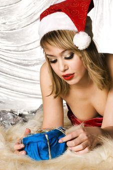 Free Blonde Santa Girl Royalty Free Stock Photography - 6622267