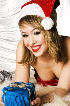 Free Blonde Santa Girl Royalty Free Stock Images - 6622389