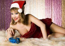 Free Blonde Santa Girl Royalty Free Stock Photography - 6622447