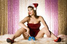 Free Blonde Santa Girl Stock Photo - 6622520