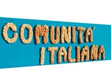 Free Comunita Italiana Royalty Free Stock Photo - 6623055