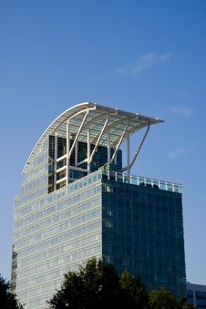 Blue Building With Curved Roof Stock Photography