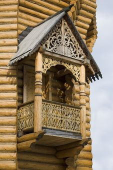 Wooden Carved Balcony Stock Image