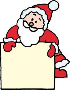 Free Santa Claus Name Badge Royalty Free Stock Images - 6623709