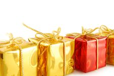 Line Of Gift Royalty Free Stock Image