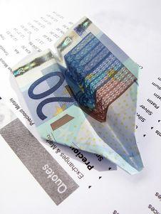 Free 20-Euro Paper Airplane Stock Photo - 6624040