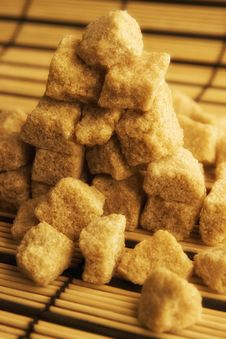 Pyramid Of Lump Sugar Royalty Free Stock Photos