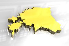 Free 3d Golden Map Of Estonia Stock Images - 6624524