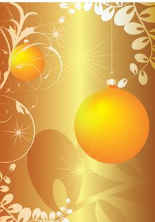 Free Orange Baubles Stock Images - 6624654